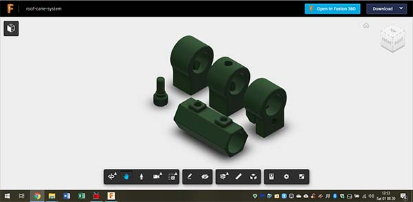 Click to open the Fusion 360 Viewer